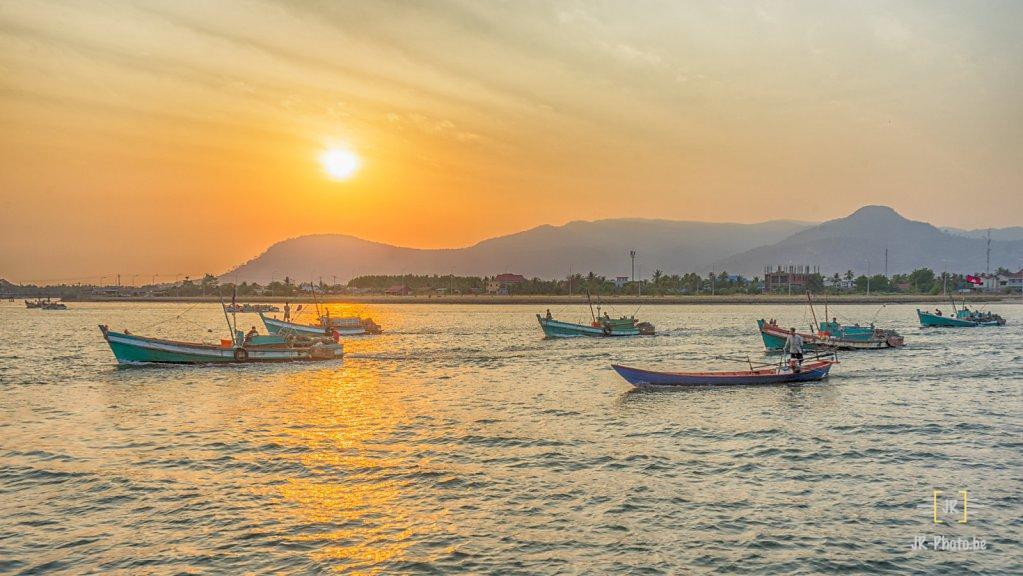 Paysage - Couché de soleil - Kampot